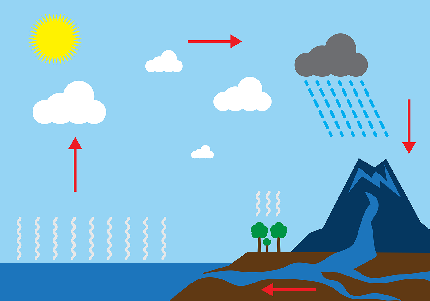 ... Free Water Cycle Diagram Vector ...