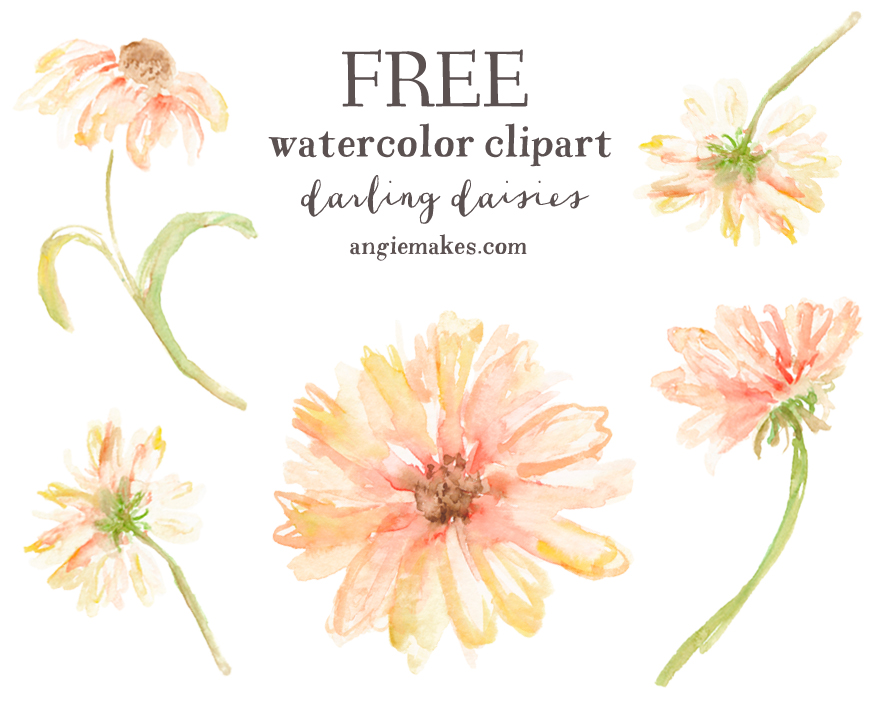 Free Watercolor Clip Art Flowers