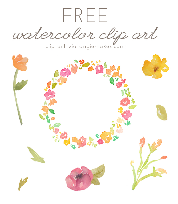 Free Watercolor Flower Clipart-free watercolor flower clipart-12