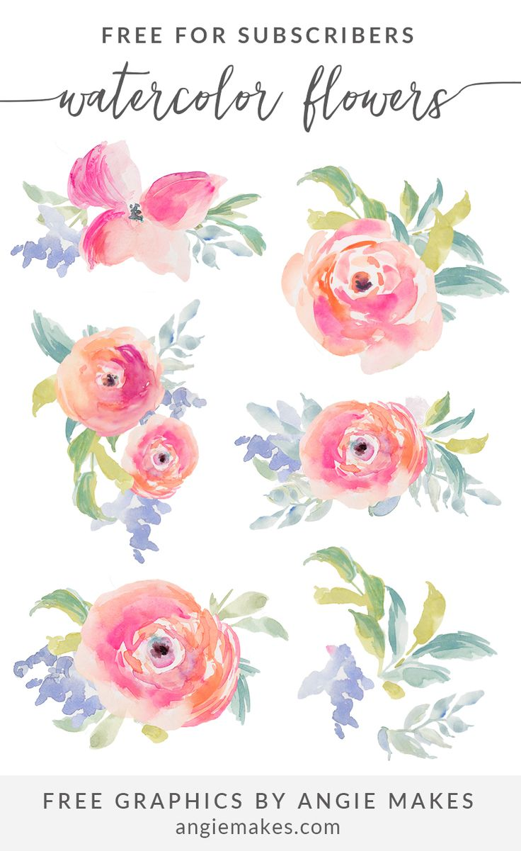 Free Watercolor Flowers Clip Art For Sub-Free Watercolor Flowers Clip Art For Subscribers. Free flower clip art illustration. Watercolor clip-13