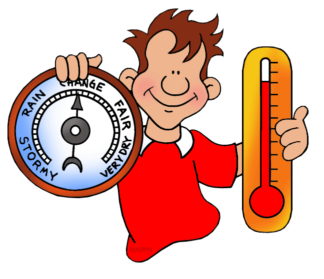 Free weather clip art by phillip martin barometer and thermometer