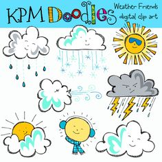 free weather clipart for teachers