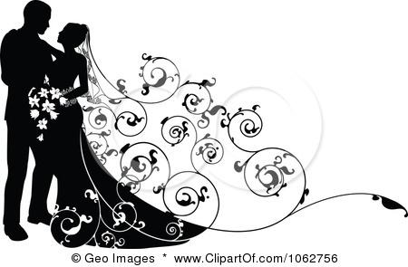 Free wedding and Clip art. Wedding Silhouette Free .