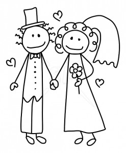 Free Wedding Clipart Black And .-free wedding clipart black and .-5