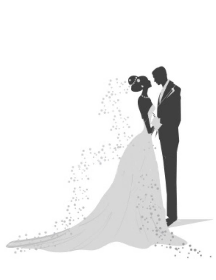 Free Wedding Silhouette Clip Art | ... wedding but also a rehearsal dinner groom s brunch and a post wedding
