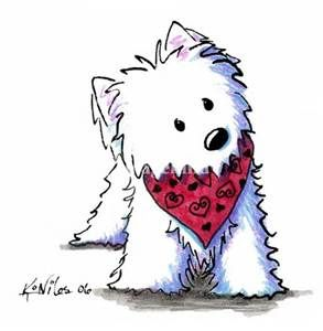 These Westie illustrations ar