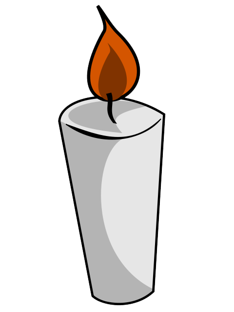 Free White Candle Clip Art