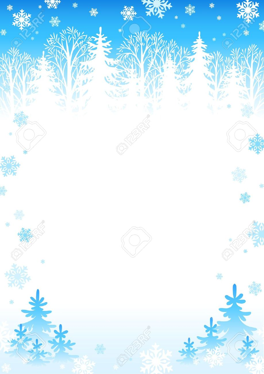 Free Winter Clip Art Images . winter border: Winter forest .