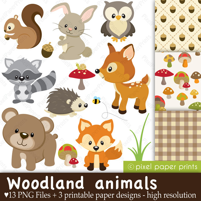 Free Woodland Animals Clipart - Woodland Animal Clipart