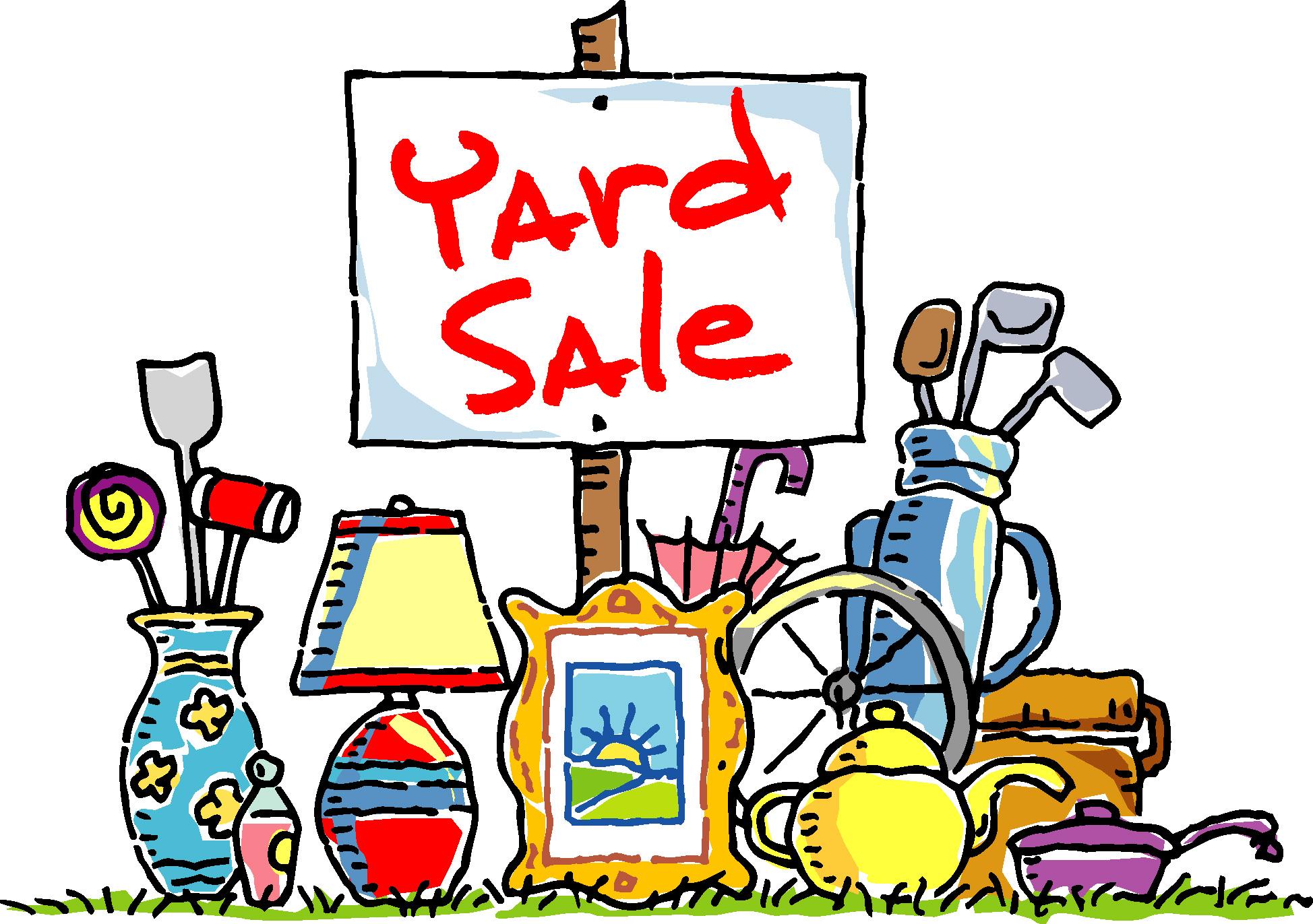 Free yard sale clip art clipart