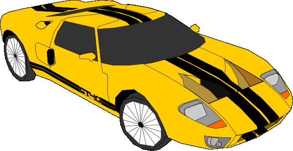 Free Yellow Sports Car Clip Art