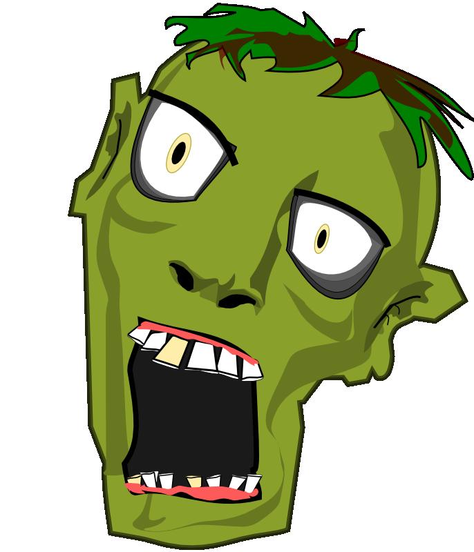 Free Zombie Head Clip Art