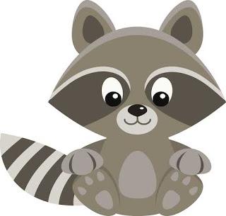 Freebie raccoon clip art barbara leyne