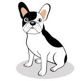 French bulldog clipart .-French bulldog clipart .-5