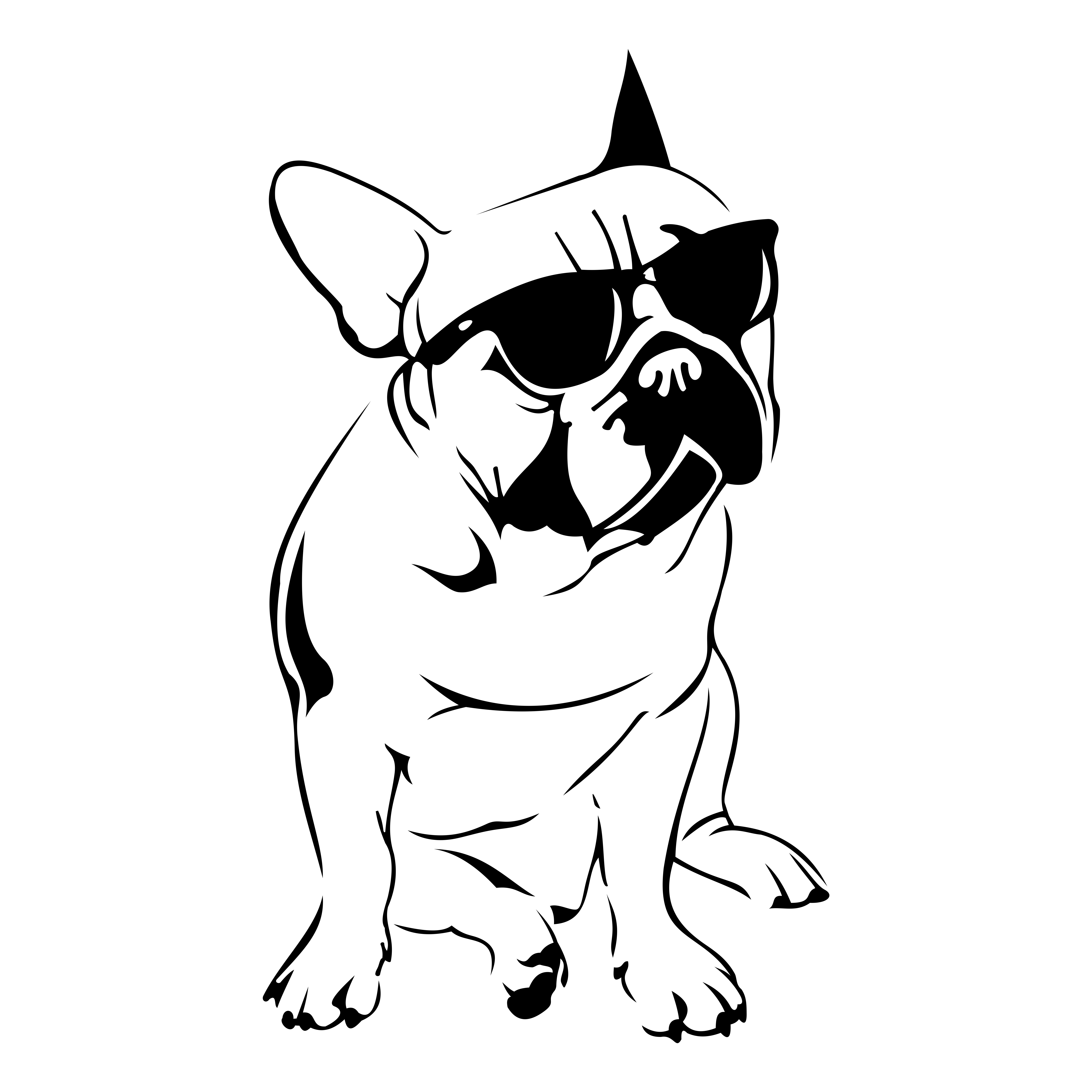 French Bulldog Design SVG DXF .-French Bulldog Design SVG DXF .-4
