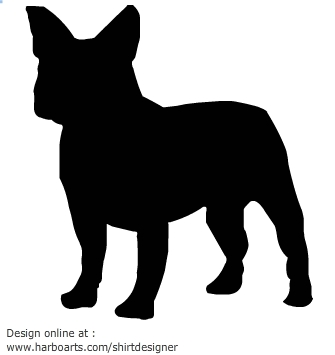 French Bulldog Silhouette .-French Bulldog Silhouette .-7