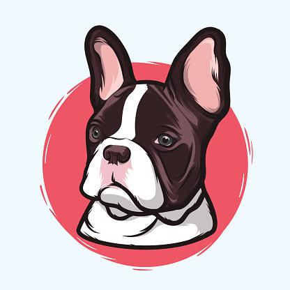 French Bulldog vector art illustration-French Bulldog vector art illustration-9