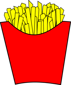 French Fries Modern Clip Art