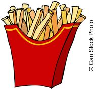 ... French fries - This illustration depicts a container of.