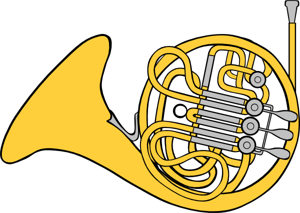 French Horn Clip Art-French Horn Clip Art-0