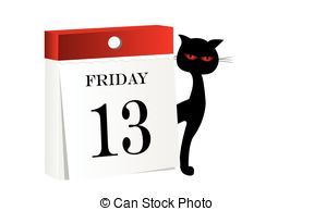 ... Friday 13th calendar - White background with isolated.