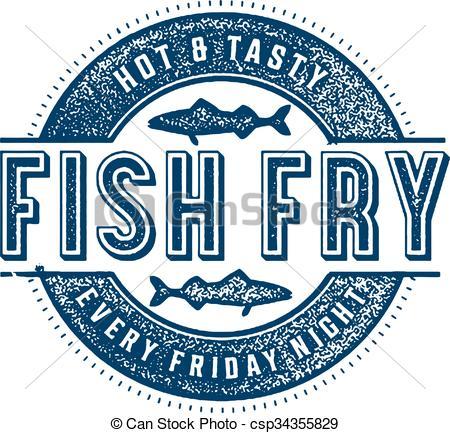 ... Friday Fish Fry - Vintage Style Stam-... Friday Fish Fry - Vintage style stamp for Friday Fish Fry.-16