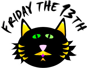 Friday the 13th black cat .