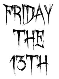 Friday The 13th Word Art A ..