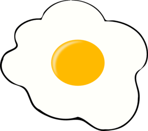 fried egg clipart black and w - Clip Art Eggs