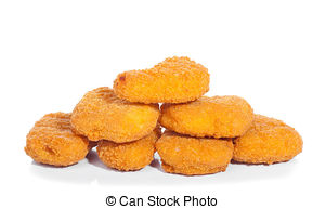 Fried chicken nuggets . - Chicken Nuggets Clipart