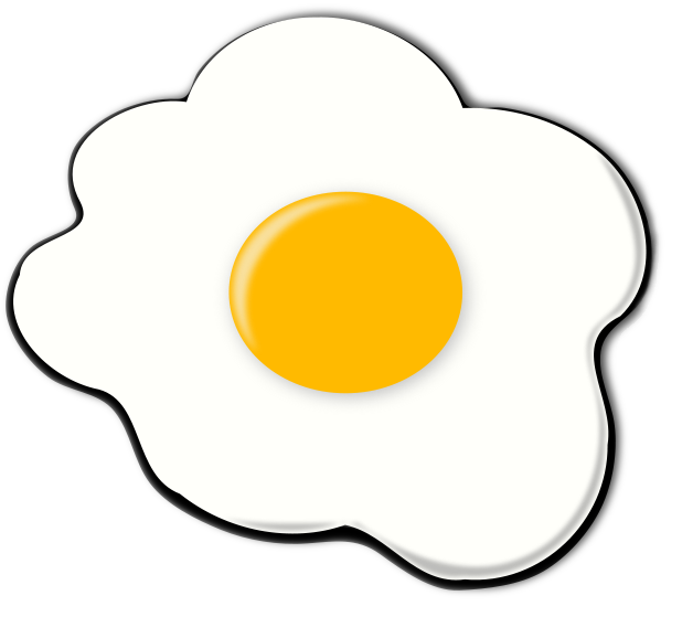 Fried eggs clip art free vector image