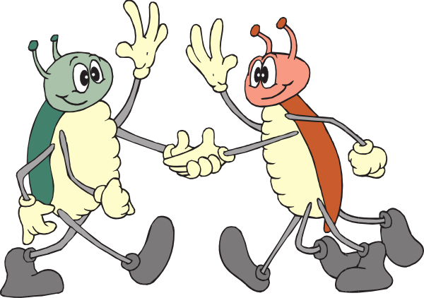 Friendly Bugs Clip Art At Clker Com Vector Clip Art Online Royalty