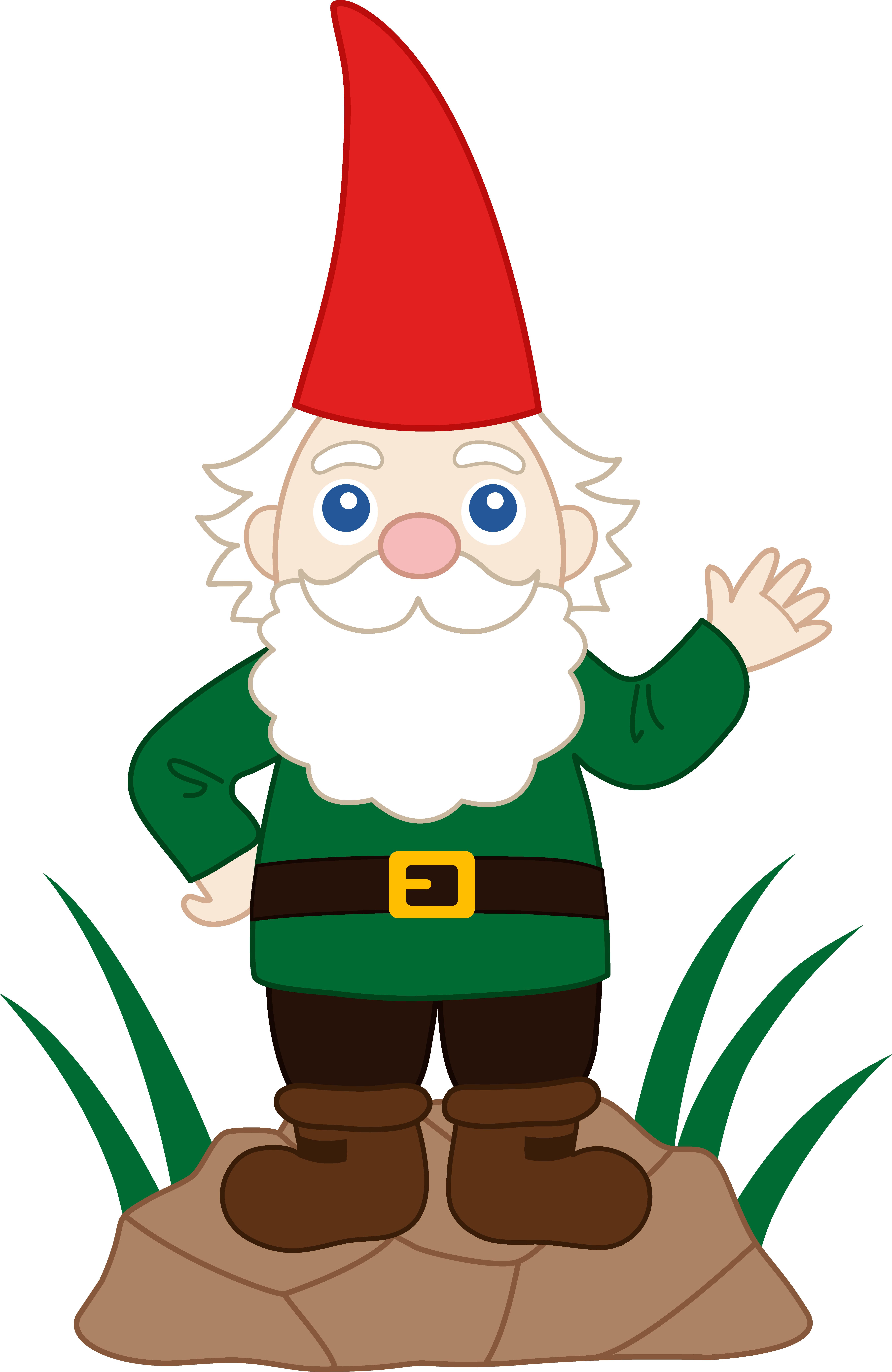 Friendly Garden Gnome - Free Clip Art-Friendly Garden Gnome - Free Clip Art-8