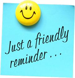 Friendly Reminders. Saturday Test Prep Academy .