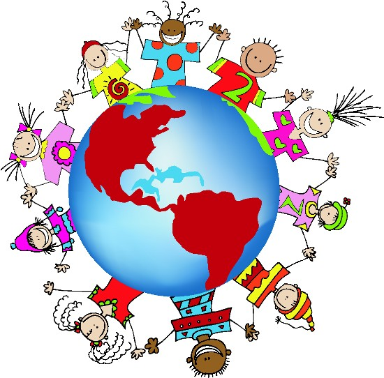 Friendship Globe Art Border Graphics For Multiculturalprojects