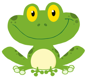 Frog Clipart Image Cartoon Of A Happy Fr-Frog Clipart Image Cartoon Of A Happy Frog Sitting Down And Smiling-11