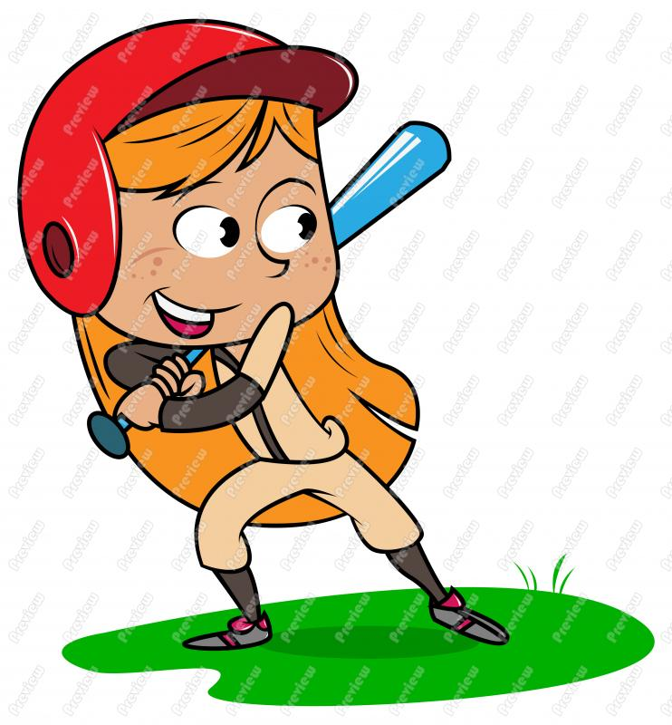From: Baseball Clipart. Girl Child Playing Baseball .