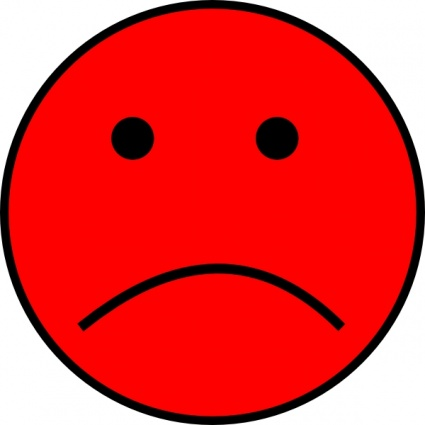 Frowny Face clip art .