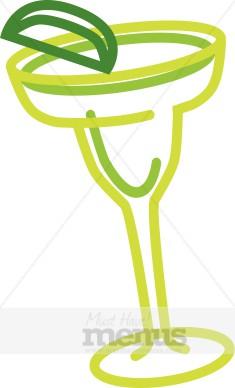 Frozen Margarita Clipart - Margarita Glass Clip Art