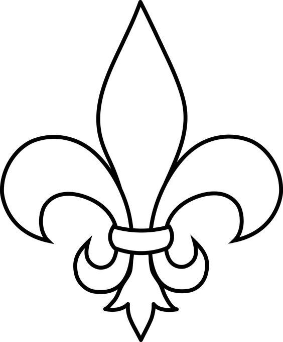 Frrench Free Clip Art | Black And White -frrench free clip art | Black and White Fleur De Lis Outline - Free Clip Art-17
