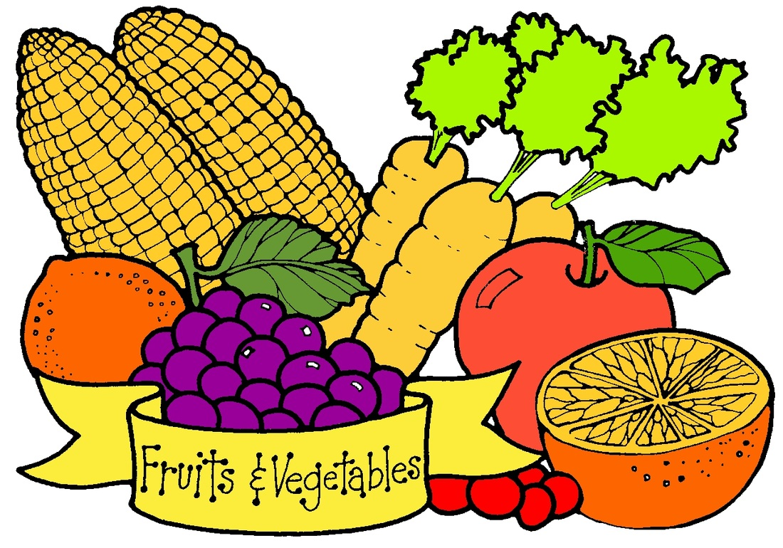 Fruit And Vegetable Border Vegetable Clip Art 402037 Orig Jpg