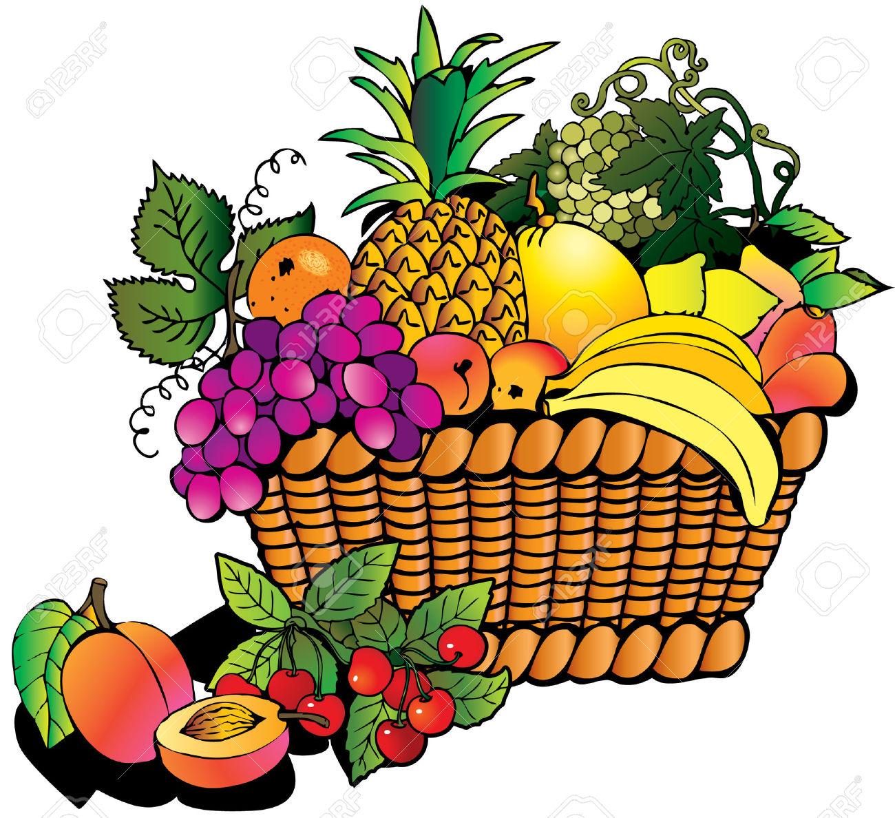 62 Fruit Basket Clipart Clipartlook