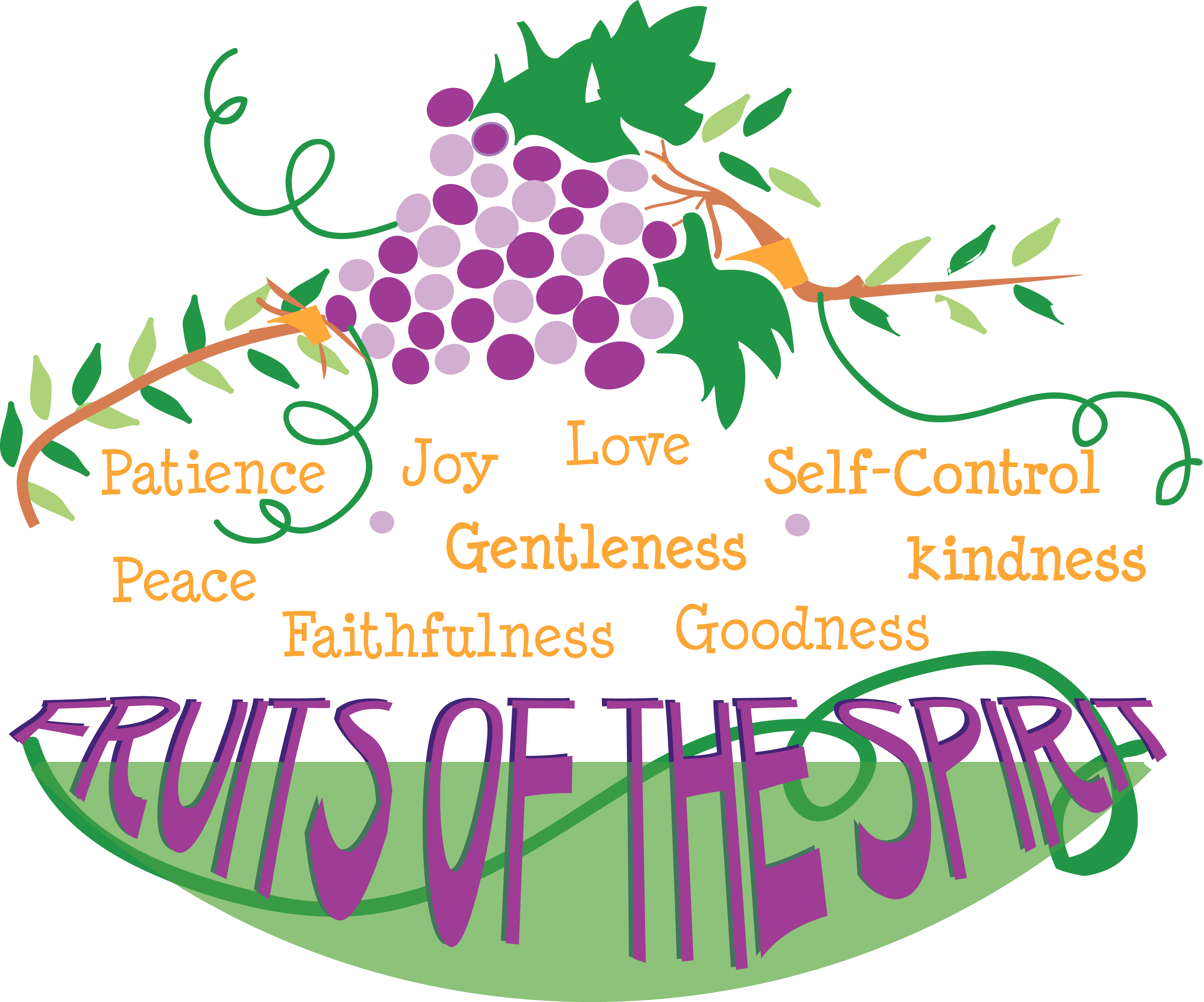 Fruit of the Spirit Scripture Clip Art
