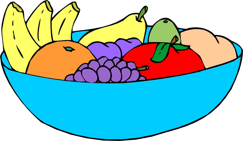 Fruit plate clipart