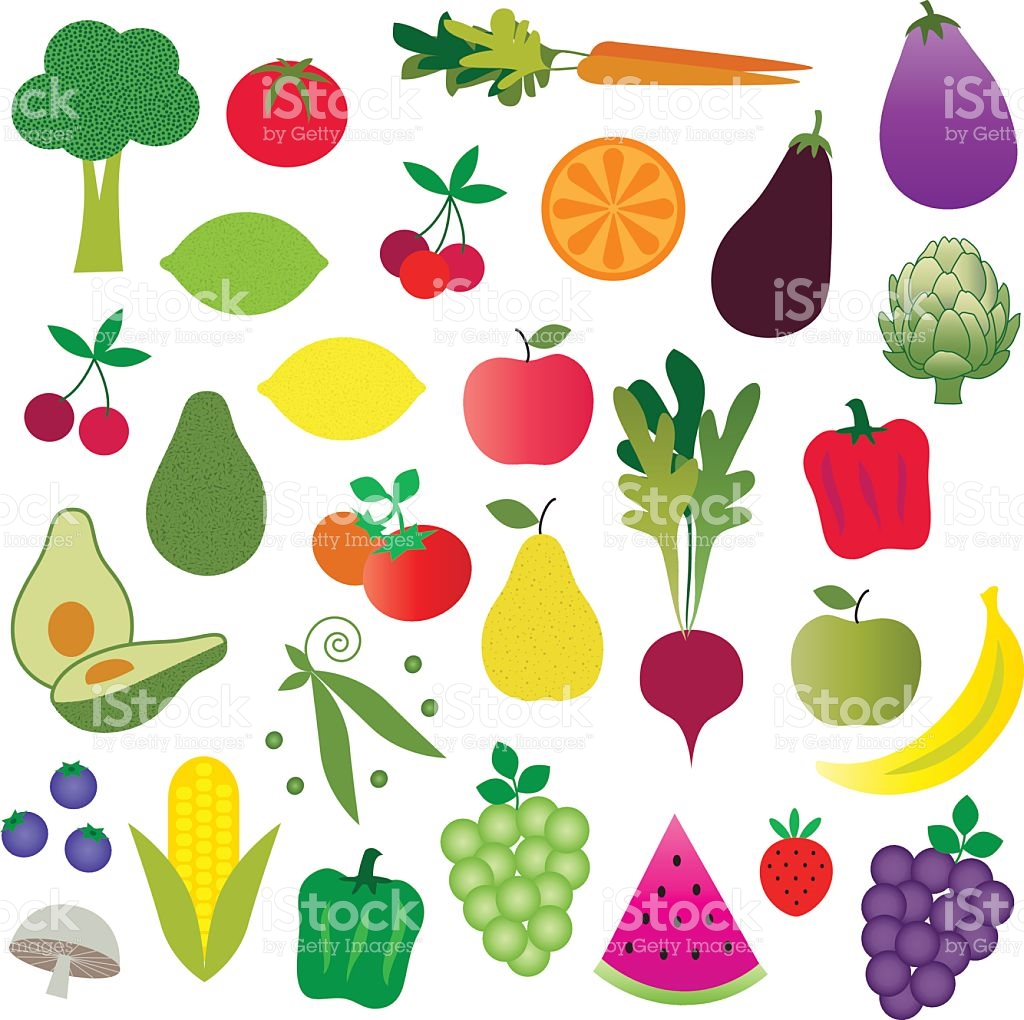 fruits and vegetables clipart royalty-free stock vector art