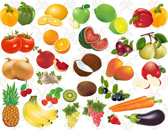 Fruits and vegetables clipart ... Unavailable Listing on Etsy