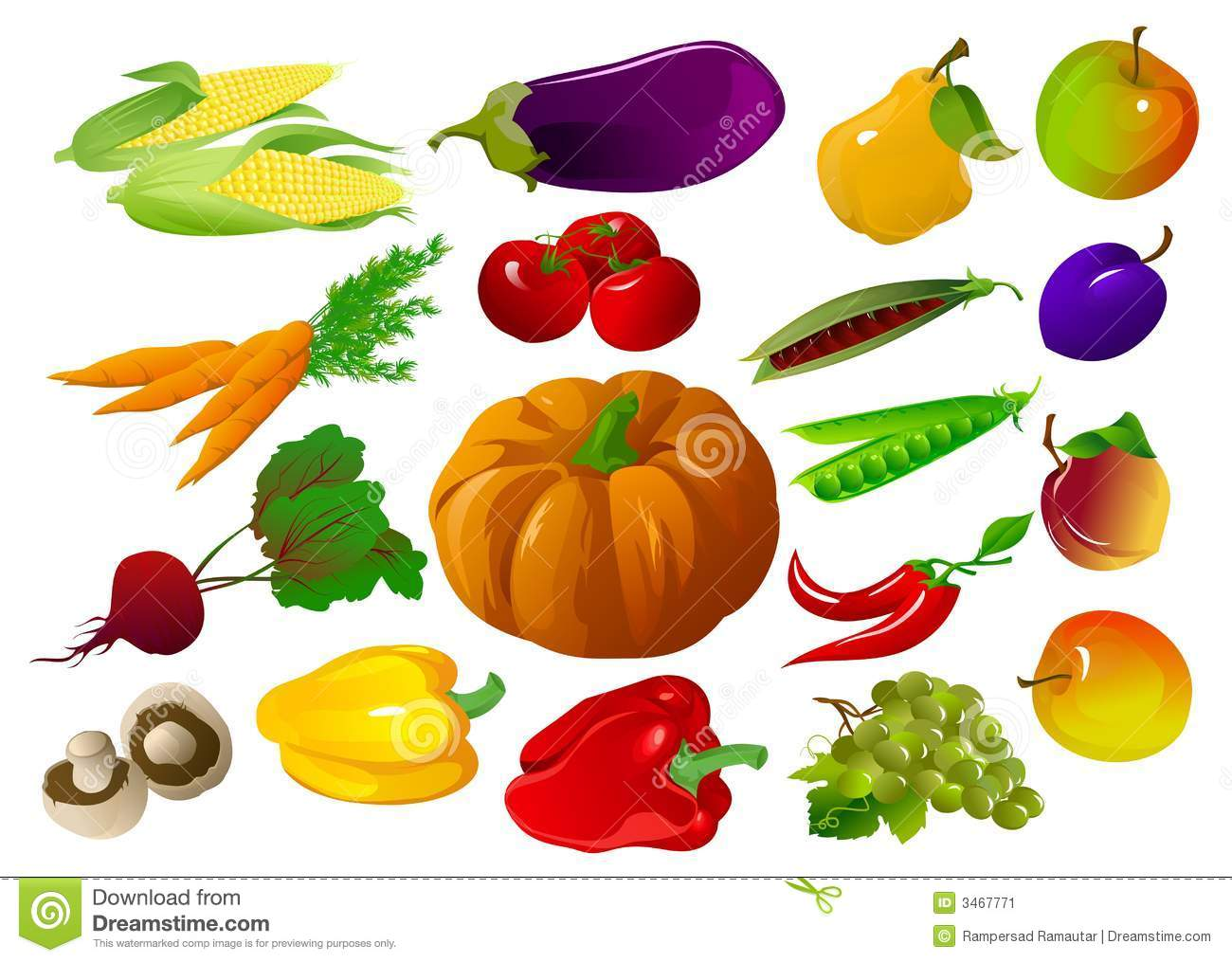 Fruits And Vegetables Stock .