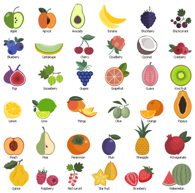 Fruits Clipart, Watermelon, Watermelon F-Fruits clipart, watermelon, watermelon fruit, strawberry, strawberry fruit, garden strawberry,-16