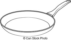 . ClipartLook.com Illustration of Isolated Frying Pan Cartoon Drawing. Vector.