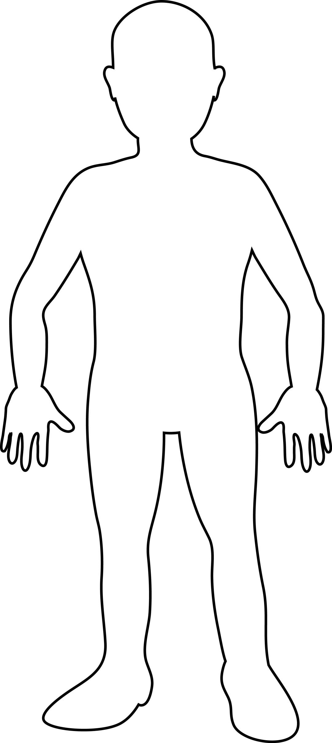 Full body outline clip art